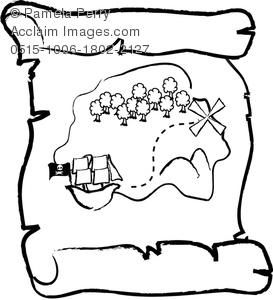 273x300 Clip Art Pirate Map Clipart 1992462