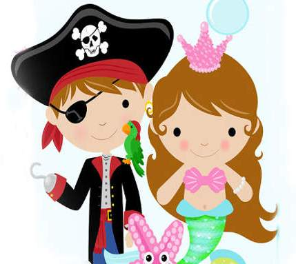 429x383 Mermaid and pirate clipart Clipart Panda