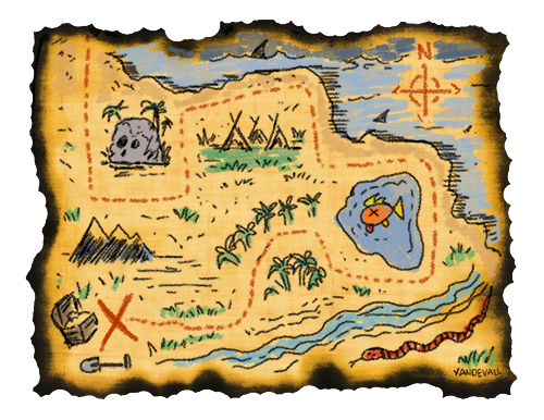 500x386 Best Treasure Map Clipart