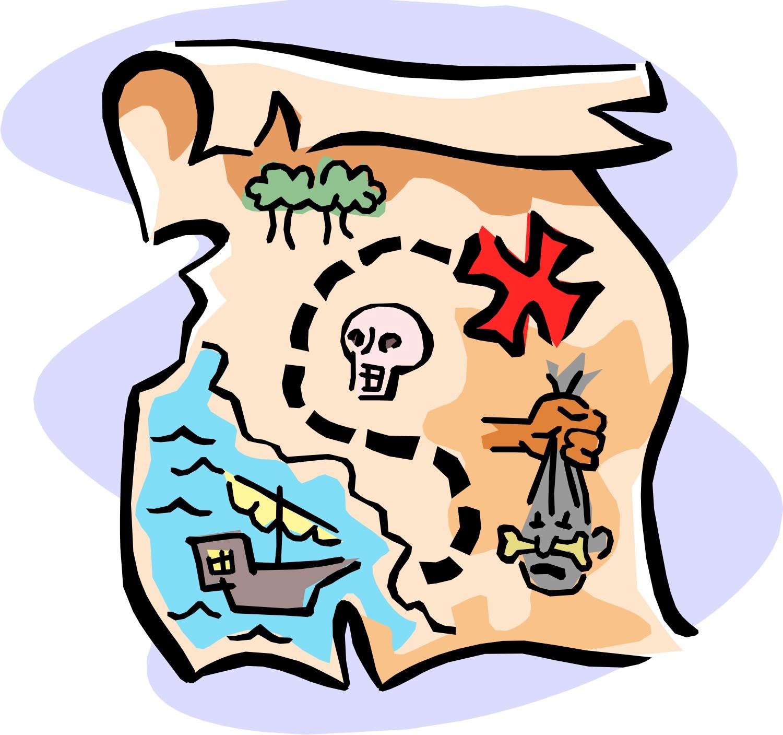 1500x1407 Treasure Hunt Map Clipart