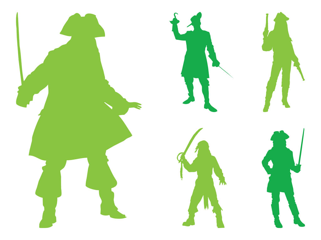 1024x765 Pirate Silhouettes Graphics Vector Art Amp Graphics