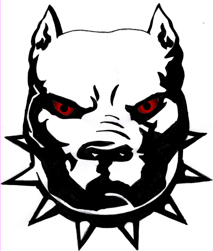 867x1024 Pitbull Clipart Black And White