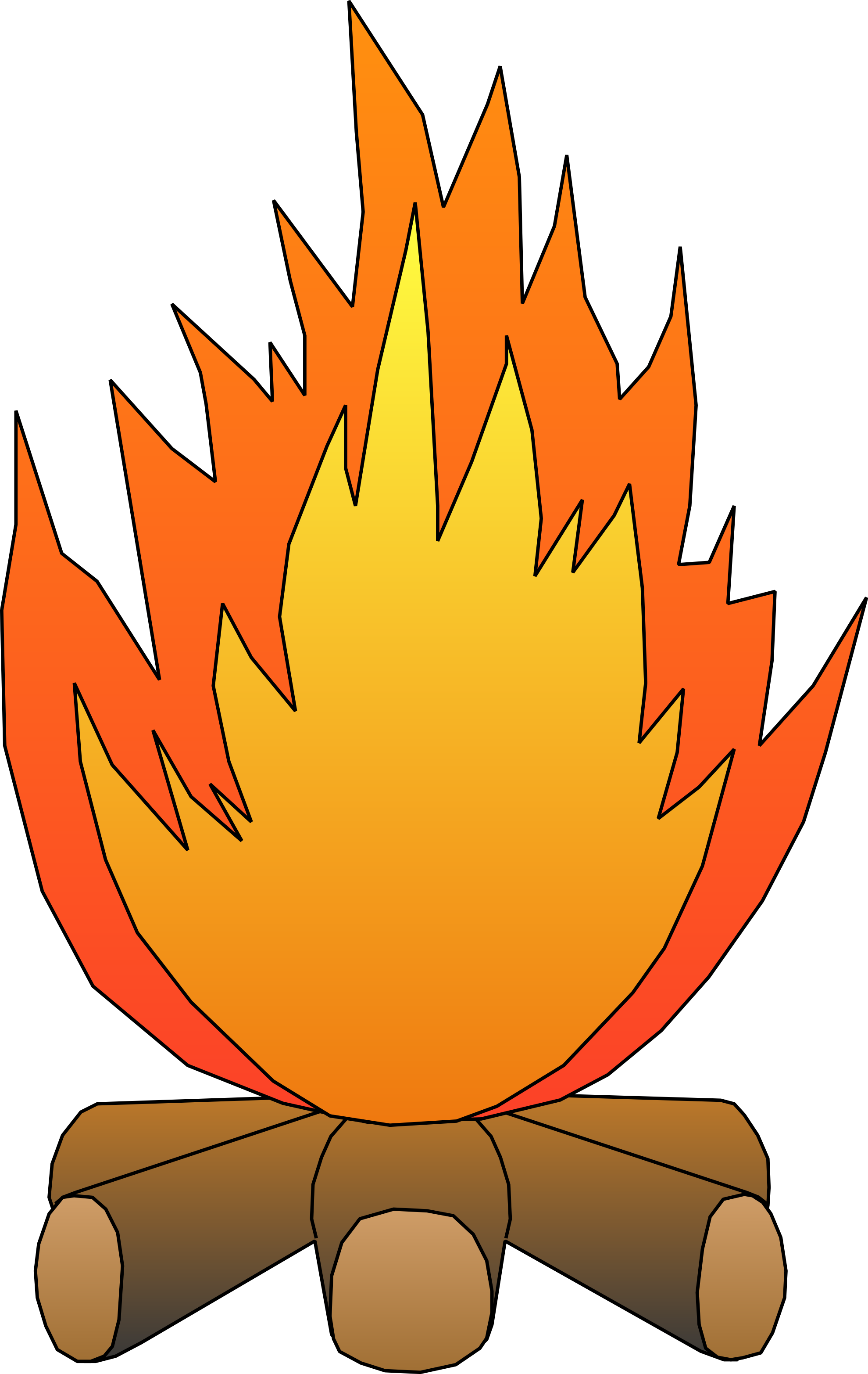 1979x3130 Camping Fire Pit Clipart