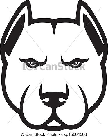 372x470 Pit Bull Clipart Simple