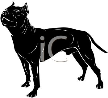 350x317 Picture Of A Black Dog Standing In A Vector Clip Art Illustration