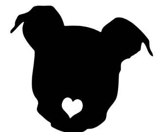 340x270 Pitbull silhouette Etsy