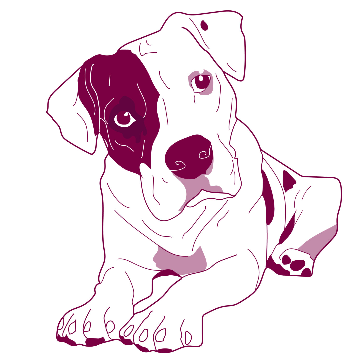 1500x1500 Pitbull Clipart Cute