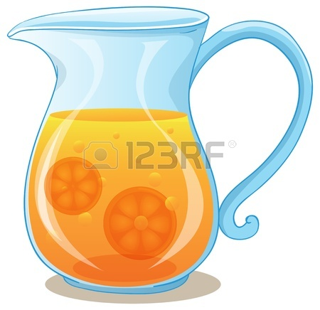 450x436 Illustration Of A Pitcher Of Orange Juice On A White Background