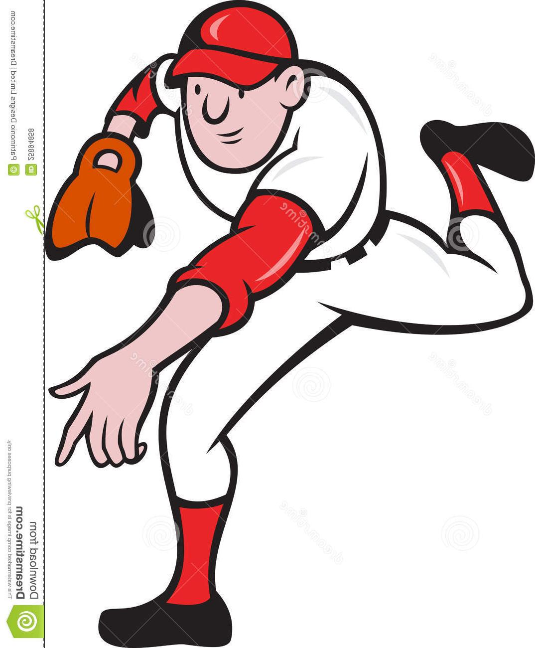 1074x1300 Best Free Cartoon Baseball Pitcher Vector Cdr Free Vector Art