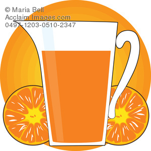 300x300 Pitcher Of Orange Juice With Orange Slices Clip Art Illustration