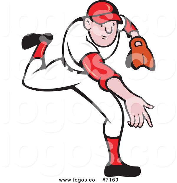 600x620 Royalty Free Clip Art Vector Baseball Player Pitcher In Action