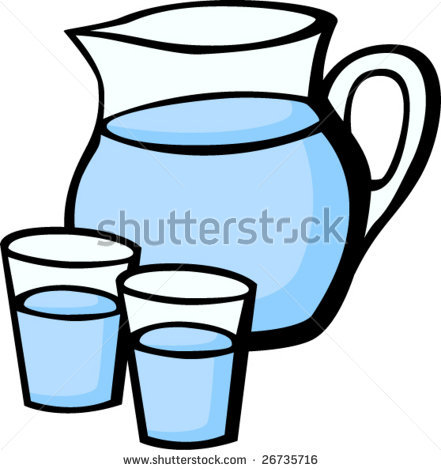 441x470 Water Clipart Pitcher Water