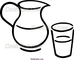 300x245 Pitcher Of Juice Vector Clip Art