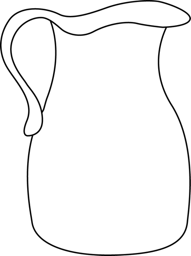 373x500 Black And White Pitcher Clip Art