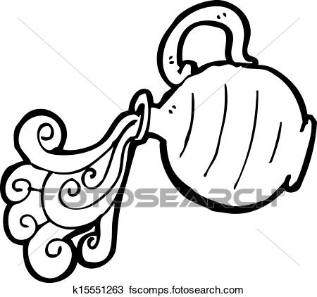 450x422 Clipart Of Cartoon Pouring Water Jug K15551263