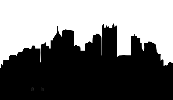 600x346 Pittsburgh Skyline Silhouette Dpi Clip Art