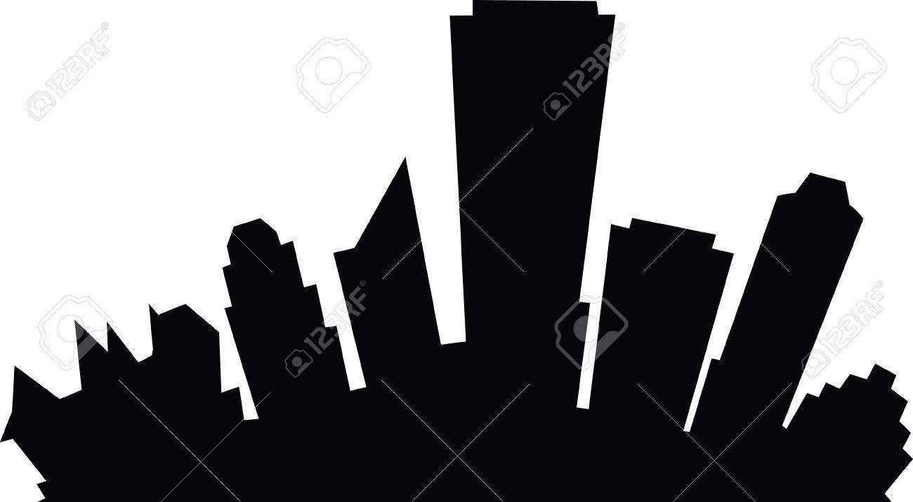 1300x715 Cartoon Skyline Silhouette Of The City Of Edmonton, Alberta