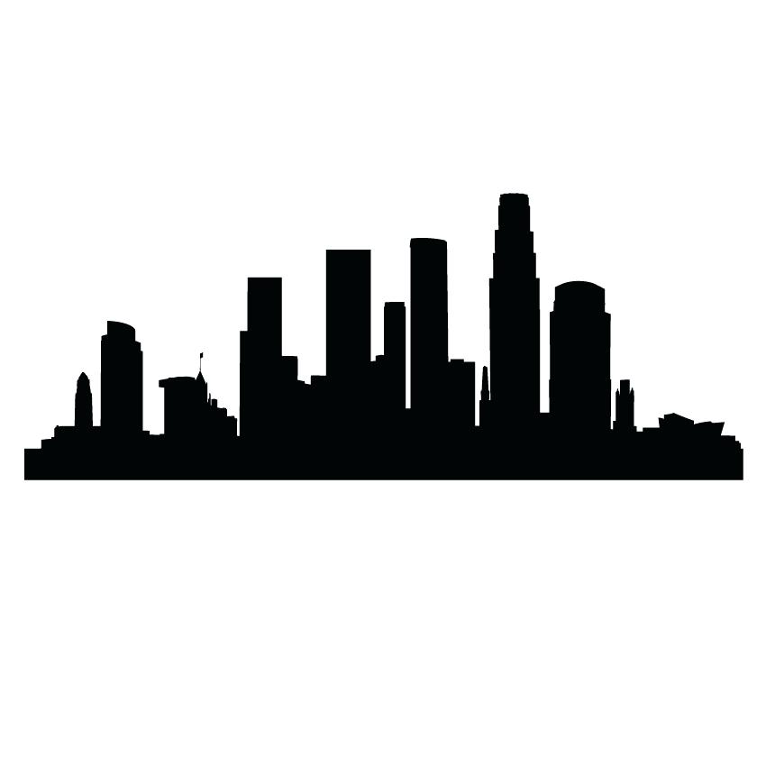 850x850 City Skyline Clipart Clip Art City Skyline Vector Silhouette