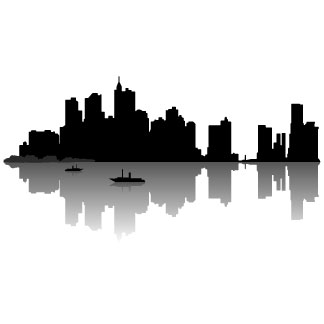 324x324 City Skyline Silhouette Clip Art