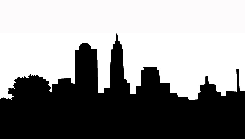 1000x567 City Clipart Silhouette