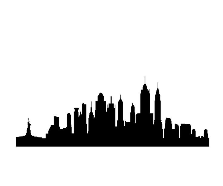 736x613 Manhattan Skyline Silhouette Clip Art