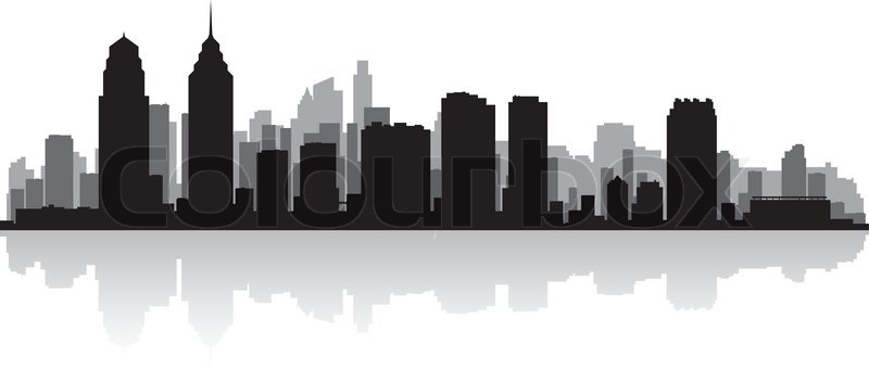 800x340 Pittsburgh Usa City Skyline Silhouette Vector Illustration Stock