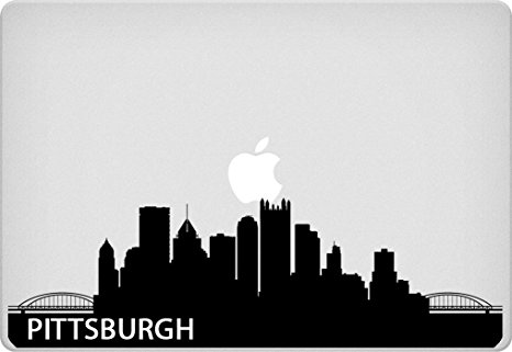 466x321 Pittsburgh Skyline Macbook Sticker Pennsylvania