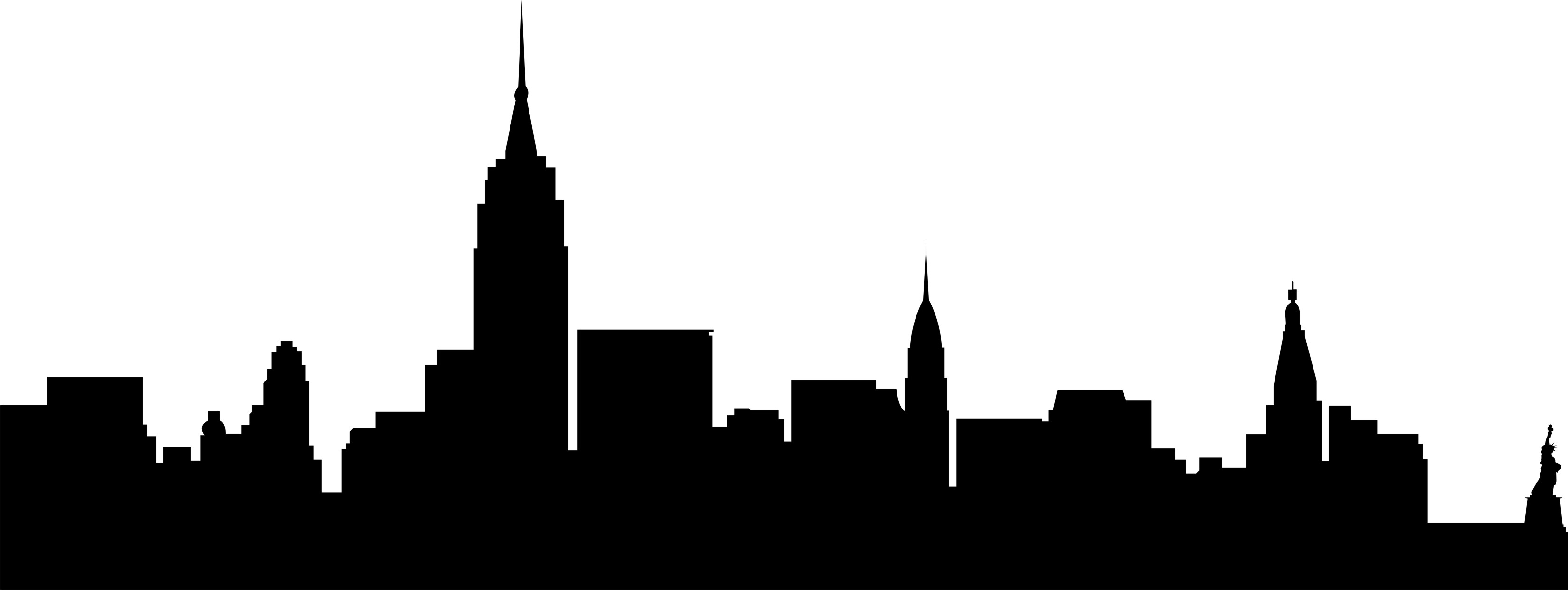 3302x1242 Skyline Clipart Small City