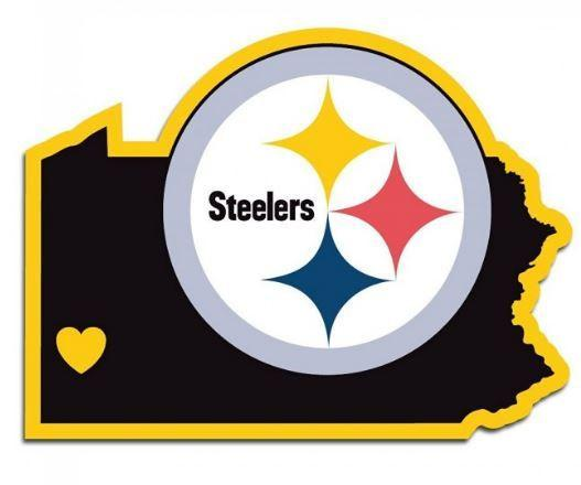 527x440 NFL Pittsburgh Steelers Home State Decal –