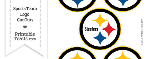 610x229 Small Pittsburgh Steelers Logo Cut Outs — Printable