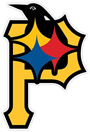 306x450 PITTSBURGH Fan Sport Logo 4x5.5 Sticker Decal Vinyl