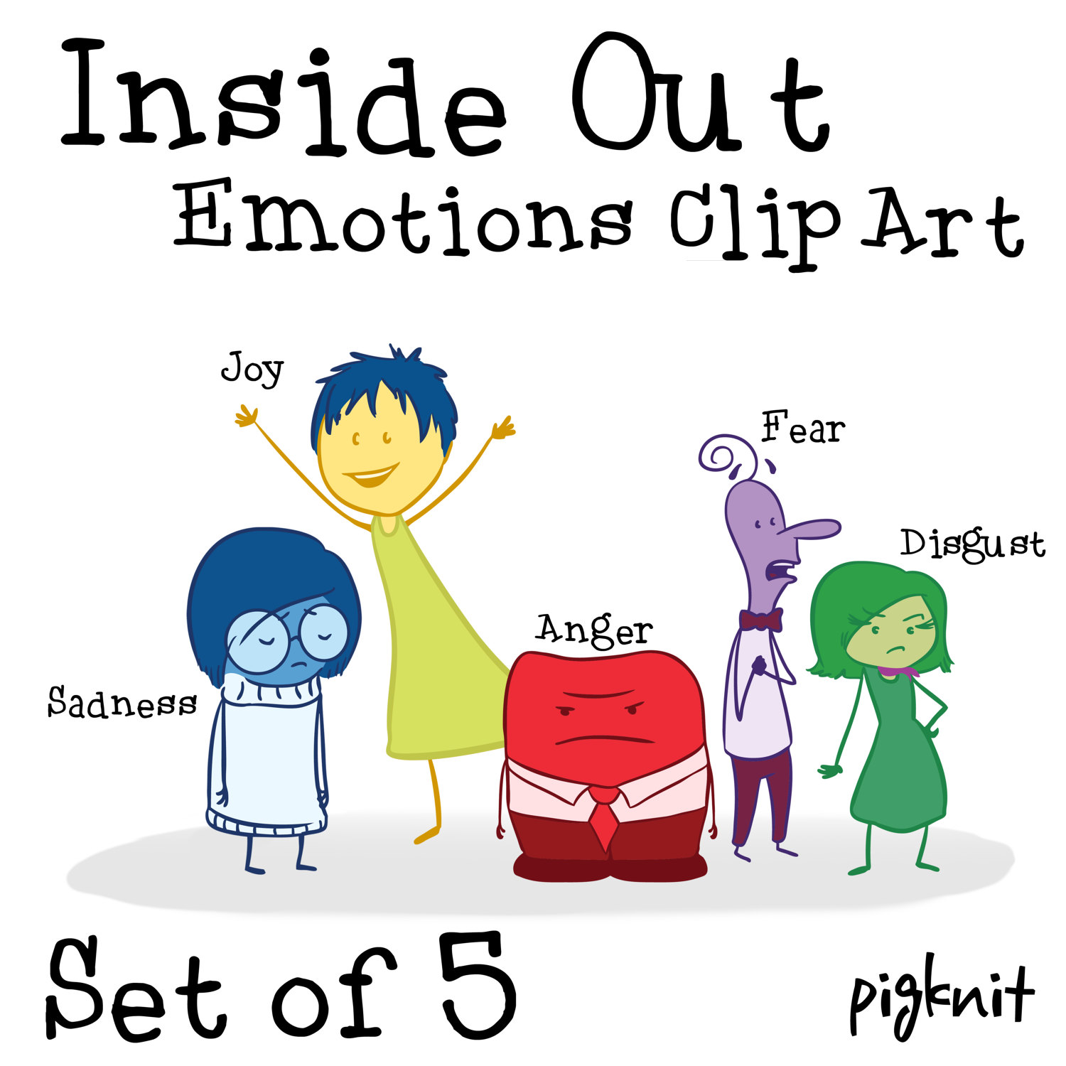 1500x1500 Inside Out Movie Clip Art, Emotion Clip Art, Inside Out Characters
