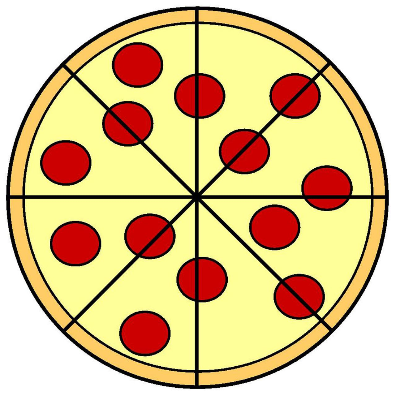 1280x1280 Half Pizza Clipart Cliparts And Others Art Inspiration