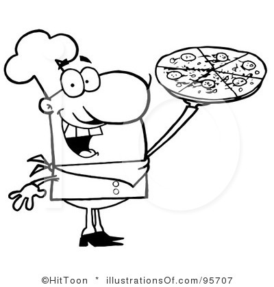 400x420 Pizza Black And White Clipart