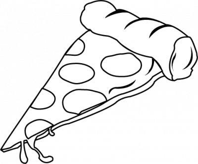 400x332 Pizza Black And White Pizza Black And White Clipart