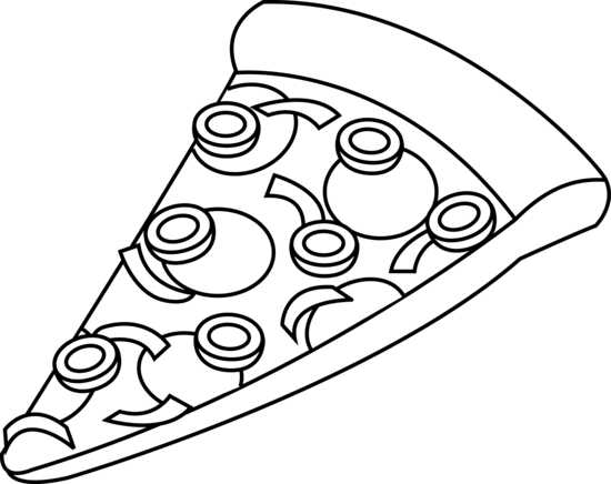 550x436 Pizza Black And White Pizza Clipart Black And White Free Images 2