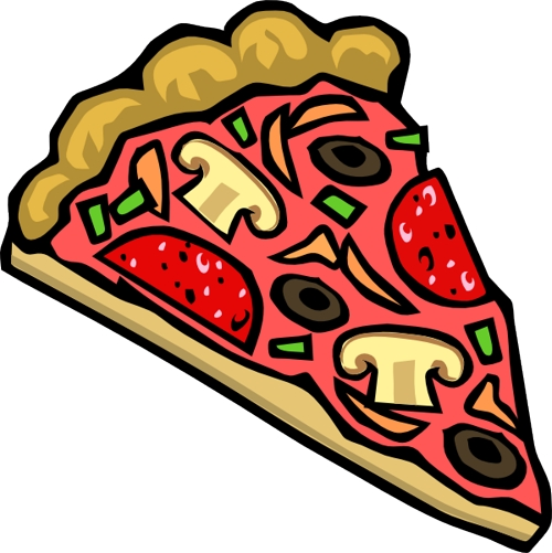 500x501 Pizza Clipart Black And White Free Images 3