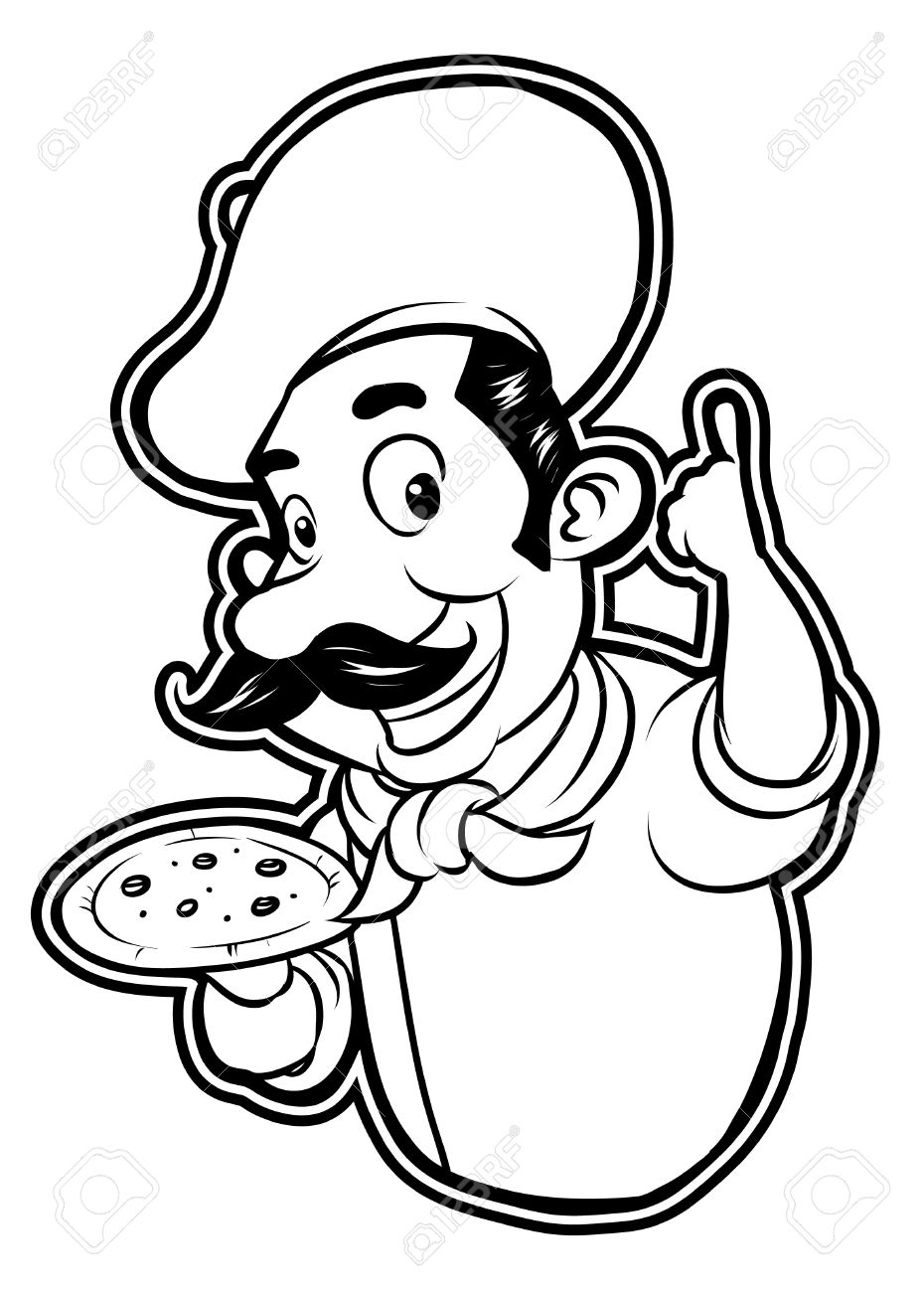 930x1300 Black And White Clipart Pizza Chef Royalty Free Cliparts, Vectors