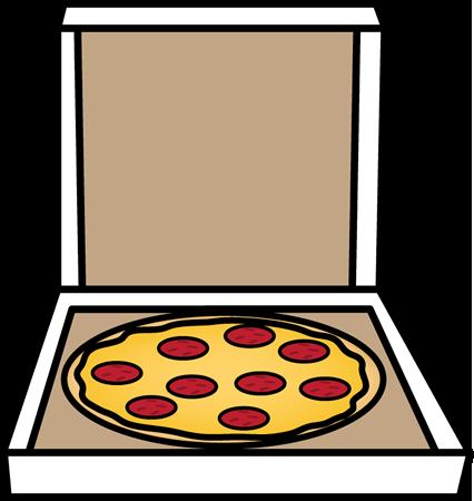 426x450 Pizza In A Box Clip Art