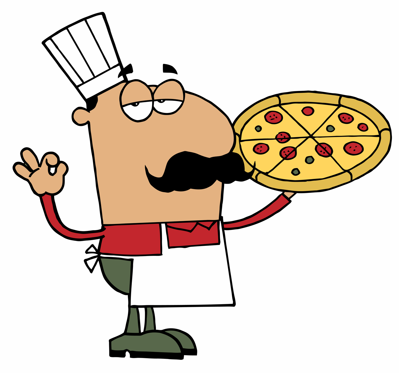 1600x1496 Pizza Man Clipart