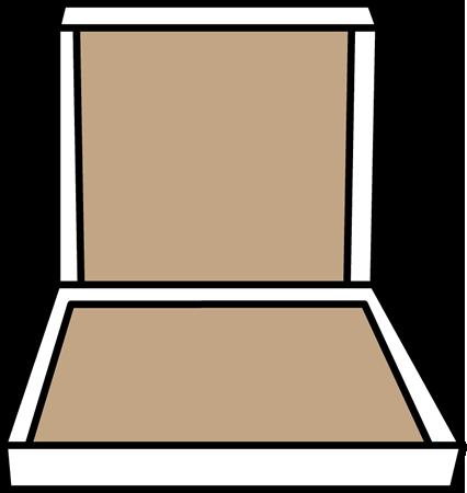426x450 Open Pizza Box Clipart