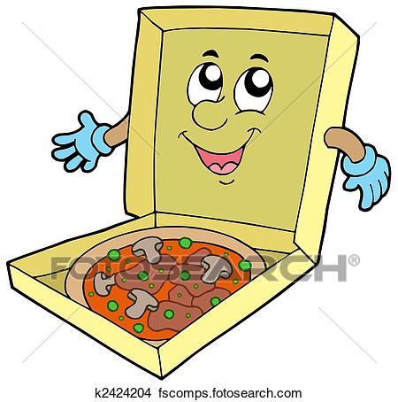 450x454 Drawings Of Cartoon Pizza Box K2424204