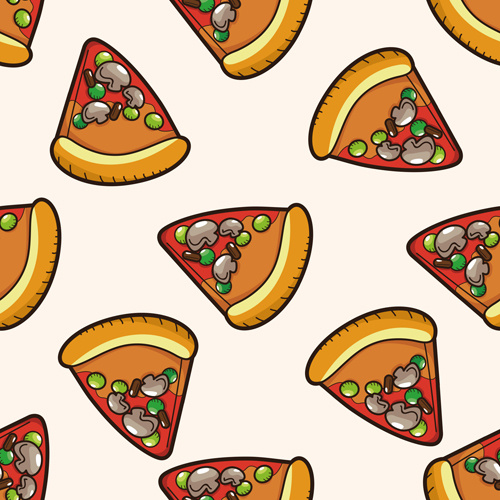 500x500 Cartoon Pizza Pattern Seamless Vectors Free Vector In Encapsulated