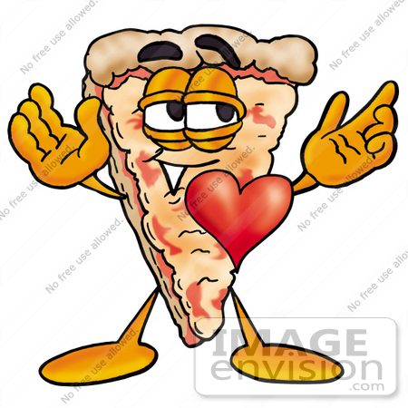 450x450 Clip Art Graphic Of A Cheese Pizza Slice Cartoon Character