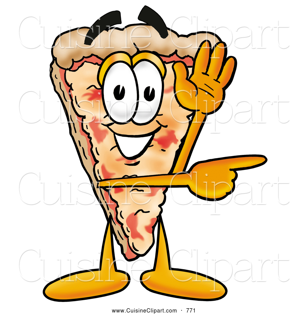 1024x1044 Cuisine Clipart Of A Slice Of Cheese Pizza Mascot Cartoon