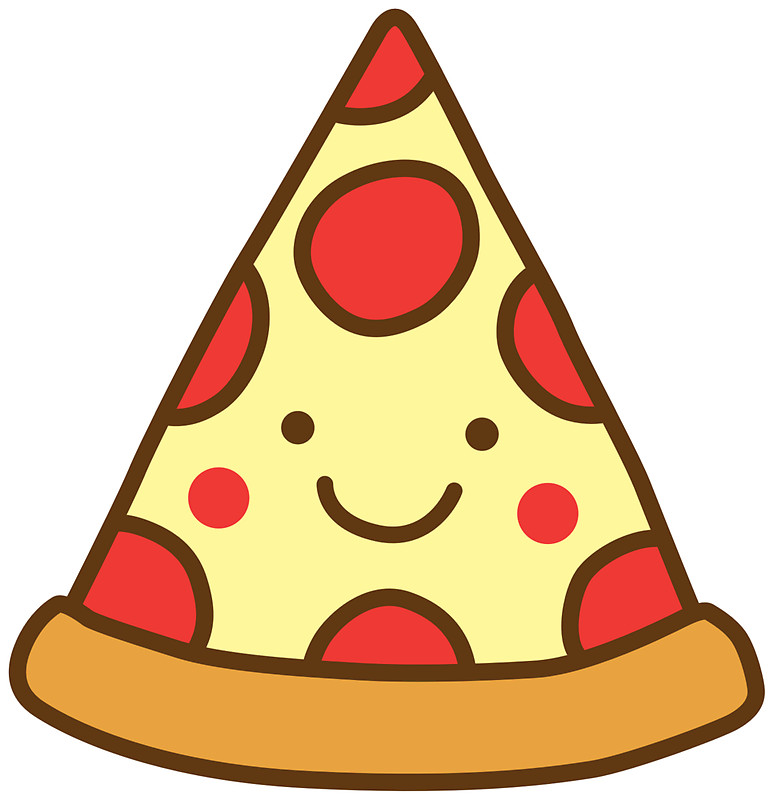 774x800 Cute Pizza Stickers By Detourshirts Redbubble