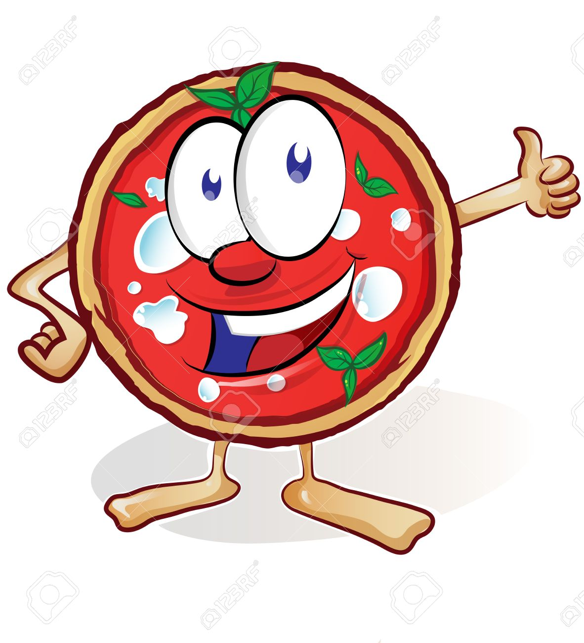 1182x1300 Fun Pizza Cartoon With Thumb Up Royalty Free Cliparts, Vectors