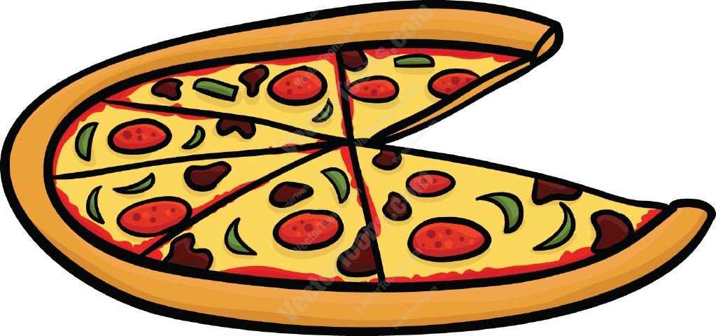 1023x480 Pizza With A Slice Missing Cartoon Clipart
