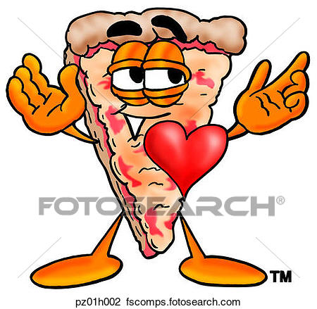 450x439 Clipart Of Pizza With Heart Pz01h002