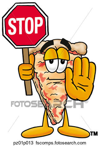 322x470 Clipart Of Pizza With Stop Sign Pz01p013